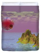 Red Planet Fantasy Duvet Cover