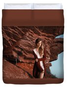 Red Planet Duvet Cover