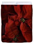 Red Poinsettia Duvet Cover by Ann Garrett
