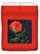 Red Poppie Duvet Cover