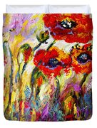 Red Poppies And Bees Provence Dreams Duvet Cover