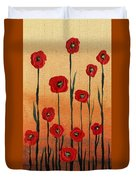Red Poppies Decorative Art Duvet Cover