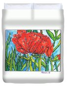 Red Poppy 1 Duvet Cover