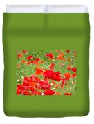 Red Poppy Flowers Meadow Art Prints Poppies Baslee Troutman Duvet Cover