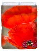 Red Poppy For Remembrance Duvet Cover