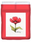 Red Poppy Duvet Cover