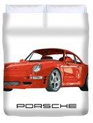 1997  Porsche 993 Twin Turbo R Duvet Cover