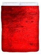 Red Rain Droplets Duvet Cover