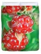 Red Raspberries Duvet Cover