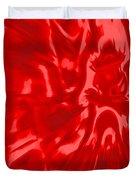 Red, Red Lava Duvet Cover
