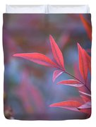 Red Red Leaves Duvet Cover