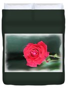 Red-red Rose. Duvet Cover