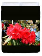 Red Rhodie Duvet Cover