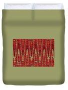Red Ripe Pomagranite Abstract Duvet Cover