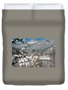 Red River In Winter Duvet Cover