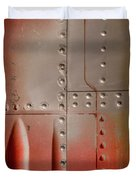 Red Rivets Duvet Cover