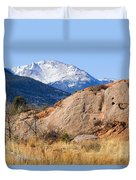 Red Rock And Pikes Peak Duvet Cover