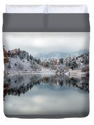Red Rock Canyon In Winter Duvet Cover