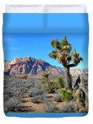 Red Rock Canyon Joshua Tree Duvet Cover