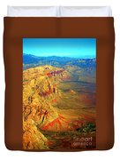 Red Rock Canyon Nevada Vertical Image Duvet Cover