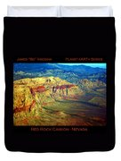 Red Rock Canyon Poster Print Duvet Cover