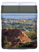 Red Rock Canyon Rock Quarry And Colorado Springs Duvet Cover