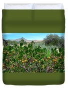 Red Rock Canyon Wild Flowers 20150525-06 Duvet Cover