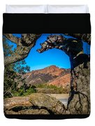 Red Rock Cliffs Duvet Cover