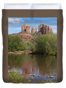 Red Rock Crossing In Sedona Duvet Cover by Sandra Bronstein