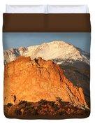 Red Rock Duvet Cover by Eric Glaser