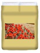 Red Rock Flowers Duvet Cover