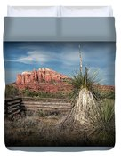 Red Rock Formation In Sedona Arizona Duvet Cover