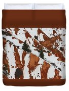 Red Rock Greenery Duvet Cover