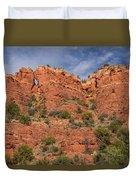 Red Rock Keyhole Duvet Cover