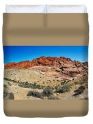 Red Rock Mountain Duvet Cover