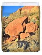 Red Rock Sunset Duvet Cover