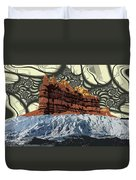Red Rock White Ice Duvet Cover