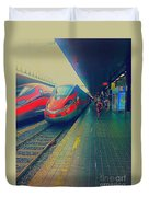 Train To Venice Duvet Cover