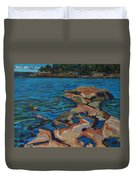 Red Rocks And Pooled Water Duvet Cover