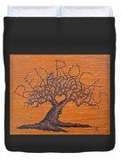Red Rocks Love Tree Duvet Cover