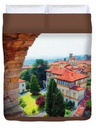 Red Roofs Duvet Cover