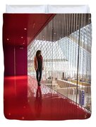 Red Room Views At The Seattle Central Library Duvet Cover