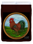 Red Rooster Duvet Cover