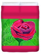 Red Rose 2 Duvet Cover