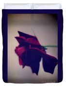 Red Rose Abstract 1 Duvet Cover