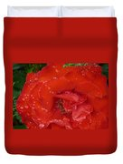 Red Rose After Rain Duvet Cover