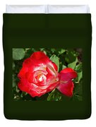 Red Rose And A Sidecar At Pilgrim Place In Claremont-california Duvet Cover