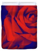 Red, Rose And Blue Duvet Cover