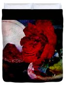 Red Rose And The Mirror Duvet Cover