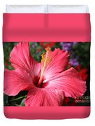 Red Rose Of Sharon  Duvet Cover